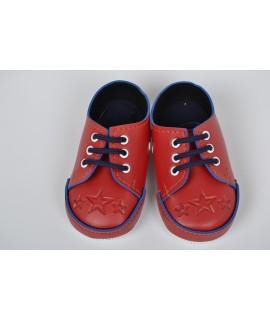 Baby topánky s hviezdičkou - červené