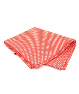 Šatka bodkovaná - červeno-biela