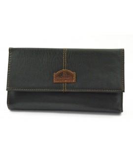 Čašnícka peňaženka štepovaná (06D2488) - čierna (20x11 cm)