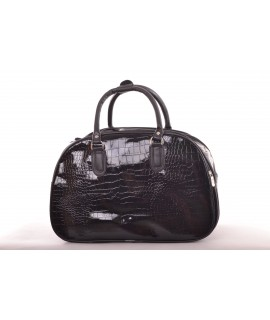 Cestovná taška - čierna lakovaná (42x29x22 cm)