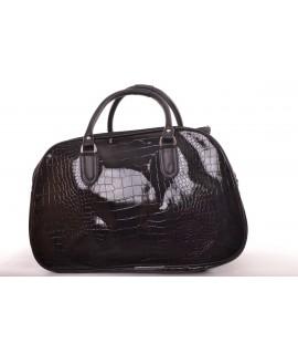 Cestovná taška - čierna lakovaná (45x31x25 cm)