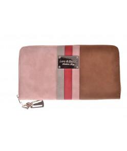 Dámska peňaženka VZOR 5 (19,5x11x2,5 cm) - hnedá