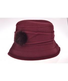 Dámsky klobúk (56-58 cm) - baklažánový