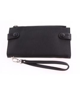 Dámska peňaženka (77YW126) - čierna (20,5x10,5 cm)