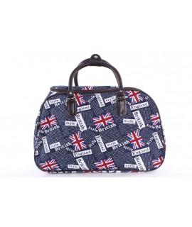 "Cestovná taška ""ENGLAND"" (42x28x24 cm) - tmavomodrá"