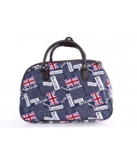 "Cestovná taška ""ENGLAND"" (45x29x25 cm) - tmavomodrá"