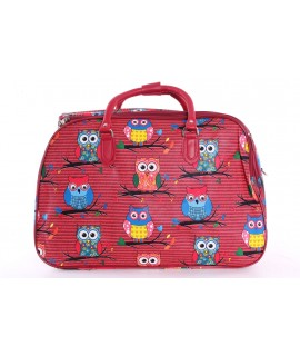 """Cestovná taška """"SOVY"""" (50x35x29 cm) - červená"""