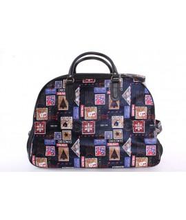 Cestovná taška na kolieskach VZOR 387 (52x37x30 cm) - tmavomodrá