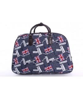 """Cestovná taška na kolieskach """"ENGLAND"""" (52x37x30 cm) - tmavomodrá"""