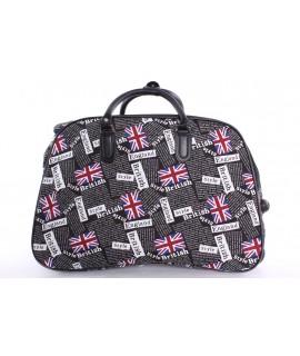 """Cestovná taška na kolieskach """"ENGLAND"""" (52x37x30 cm) - čierna"""