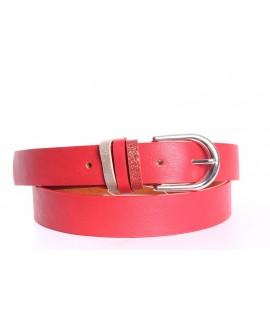 Dámsky opasok (ZSP17242) - červený (š. 2,8 cm)