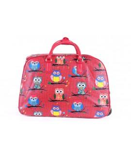 Cestovná taška na kolieskach VZOR D3268 (52x37x30 cm) - červená