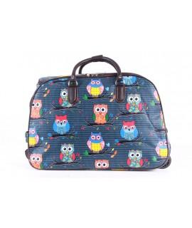 Cestovná taška na kolieskach VZOR D3268 (52x37x30 cm) - tyrkysová