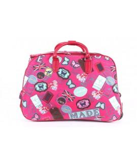 Cestovná taška na kolieskach VZOR D3243 (52x37x30 cm) - ružová