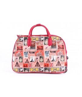 Cestovná taška na kolieskach VZOR D3251 (52x37x30 cm) - červená