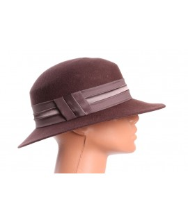 Dámsky klobúk - tmavohnedý