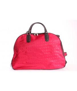 Cestovná taška na kolieskách (395) - červená (52x37x30 cm)