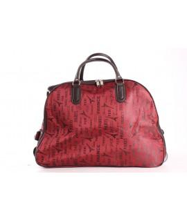 Cestovná taška na kolieskách (391) - bordová (52x37x30 cm)