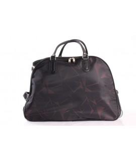 Cestovná taška na kolieskách (393) - bordovo-čierna (52x37x30 cm)