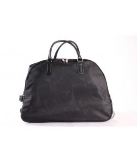 Cestovná taška na kolieskách (393) - zeleno-čierna (52x37x30 cm)