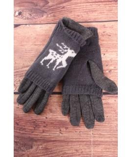 Dámske rukavice dvojdielne (18-382) - tmavosivé