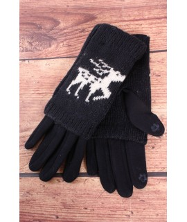 Dámske rukavice dvojdielne (18-382) - tmavomodré