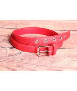 Dámsky opasok (ZSP-15002) - červený (š. 2 cm)