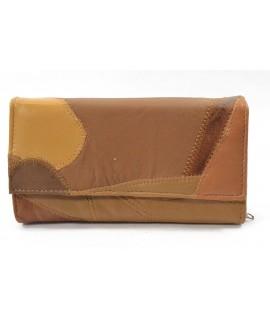 Čašnícka peňaženka prešívaná - hnedá (19x10 cm)