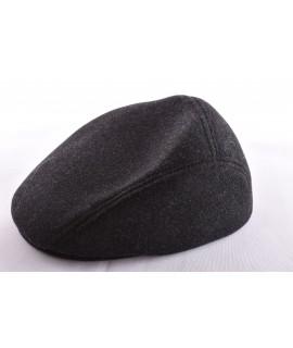 Pánska baretka flísová - sivo-čierna