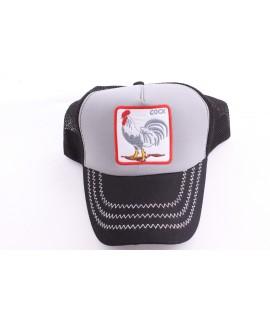 Pánska šiltovka COCK - sivo-čierna