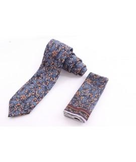 Pánska kašmírová kravata - vzorovaná VZOR 1