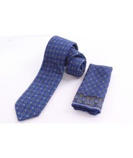 Pánska kašmírová kravata - vzorovaná VZOR 2