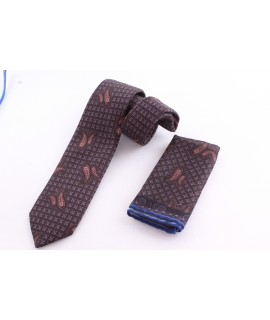 Pánska kašmírová kravata - vzorovaná VZOR 4