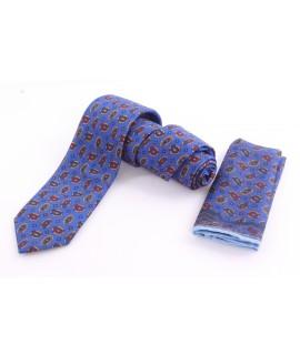 Pánska kašmírová kravata - vzorovaná VZOR 10