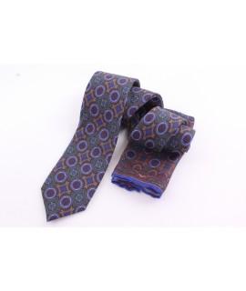 Pánska kašmírová kravata - vzorovaná VZOR 21