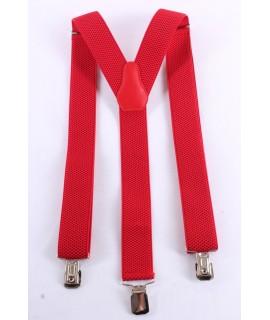 Pánske traky - červené (š. 3,5 cm)