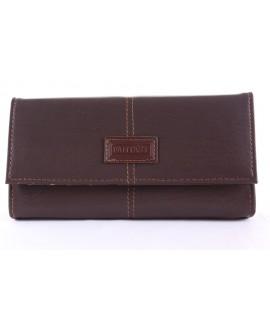 """Čašnícka peňaženka """"FANTASY""""(18R) - tmavohnedá (19x10 cm)"""