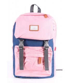Batoh 6018 (31x43x17 cm) - modro-ružový