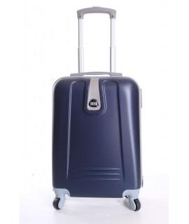 Cestovný kufor BONTOUR (55x37x20 cm s kolieskami) - tmavomodrý