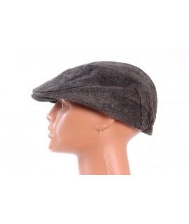 Pánska baretka (9-56) vzorovaná - hnedo-čierna