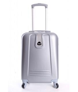 Cestovný kufor BONTOUR (55x37x20 cm s kolieskami) - strieborný