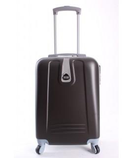 Cestovný kufor BONTOUR (55x37x20cm s kolieskami) - tmavosivo-hnedý