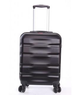 Cestovný kufor BONTOUR - CARRY (55x40x20 cm s kolieskami) - čierny