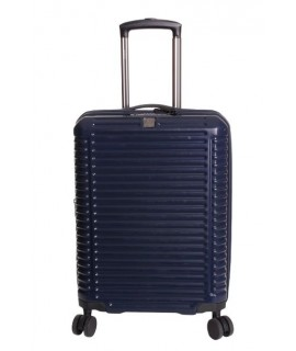 Cestovný kufor BONTOUR (55x40x23 cm s kolieskami (+5 cm rozšíriteľný ) - tmavomodrý