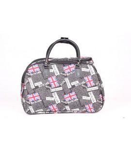 Cestovná taška ENGLAND (45x29x25 cm) - čierna