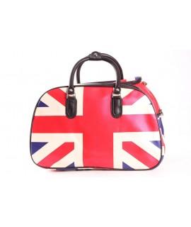 Cestovná taška (45x29x25 cm) - béžovo-červená