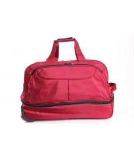 Cestovná taška na kolieskach (612) - bordová(52x35x27 cm)