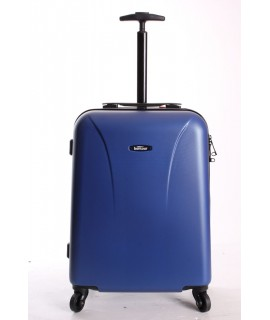Cestovný kufor BONTOUR (55x40x20 cm s kolieskami) - modrý
