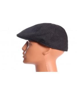 Pánska baretka - čierno-tmavosivá