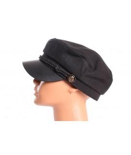 Dámska čiapka so šiltom (9-68) - čierna